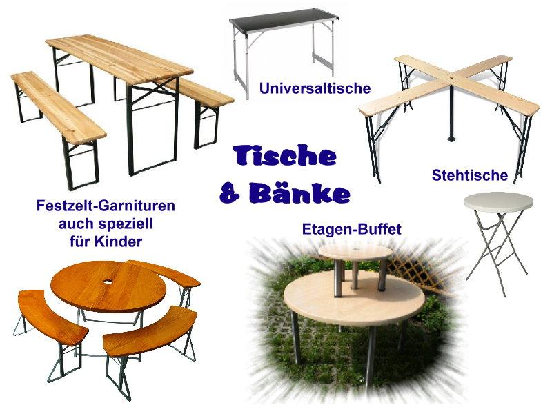 Tische & Bänke - www.Partyzeug-Berlin.de